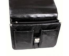 Мужской портфель искусственная кожа черный (Формат: А4 и больше) NAVI кт2974, фото 2