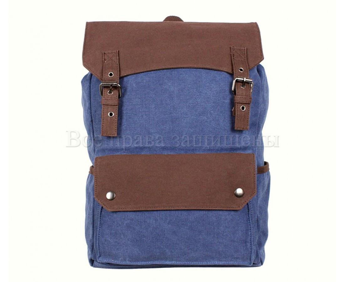 Рюкзак унисекс ткань синий (Формат: А4 и больше) NAVI 6075-3-BLUE