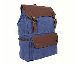 Рюкзак унисекс ткань синий (Формат: А4 и больше) NAVI 6075-3-BLUE, фото 2