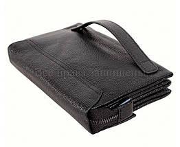 Кожаный клатч мужской черный NAVI 004-3 black, фото 3