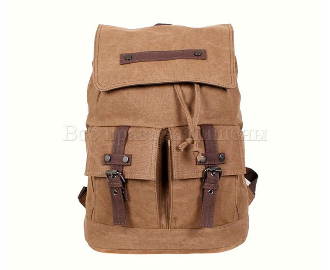Рюкзак унисекс ткань коричневый (Формат: А4 и больше) NAVI 8634-2-COFFEE