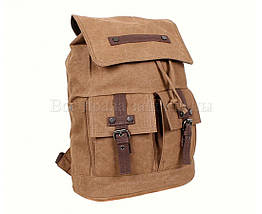 Рюкзак унисекс ткань коричневый (Формат: А4 и больше) NAVI 8634-2-COFFEE, фото 2