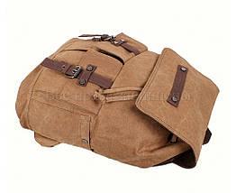Рюкзак унисекс ткань коричневый (Формат: А4 и больше) NAVI 8634-2-COFFEE, фото 3