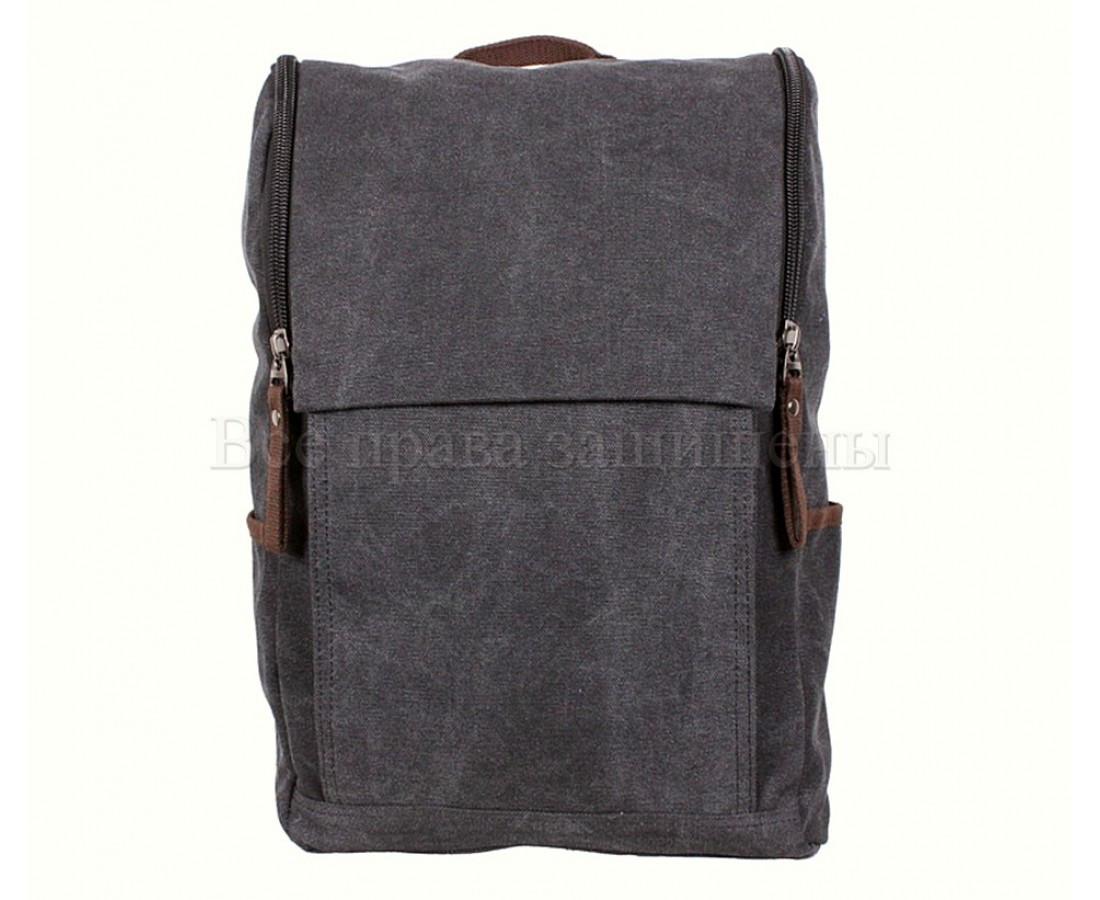 Рюкзак унисекс ткань черный (Формат: А4 и больше) NAVI 8154-1-BLACK