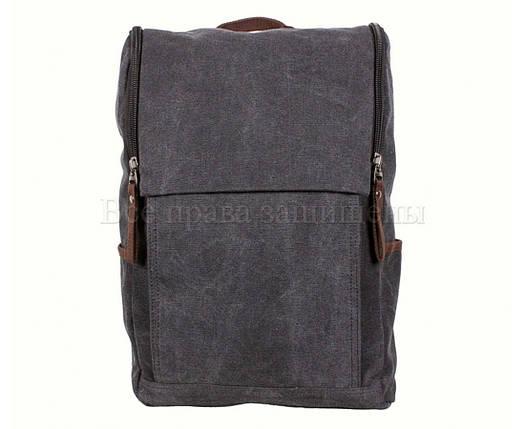 Рюкзак унисекс ткань черный (Формат: А4 и больше) NAVI 8154-1-BLACK, фото 2