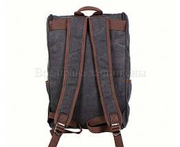 Рюкзак унисекс ткань черный (Формат: А4 и больше) NAVI 8154-1-BLACK, фото 3