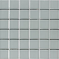 Стеклянная мозаика светло-серая Vivacer PM-01