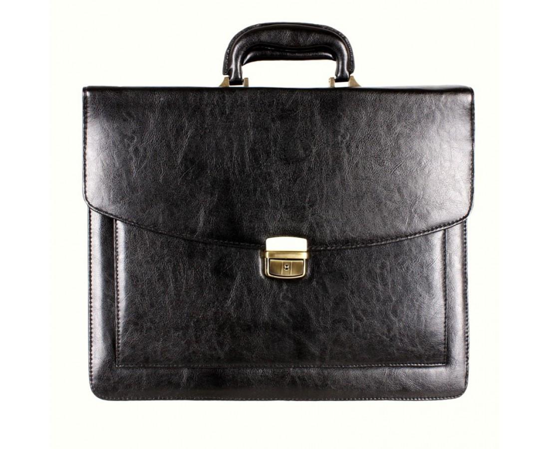 Мужской портфель искусственная кожа черный (Формат: А4 и больше) NAVI кт3070