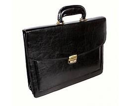 Мужской портфель искусственная кожа черный (Формат: А4 и больше) NAVI кт3070, фото 3
