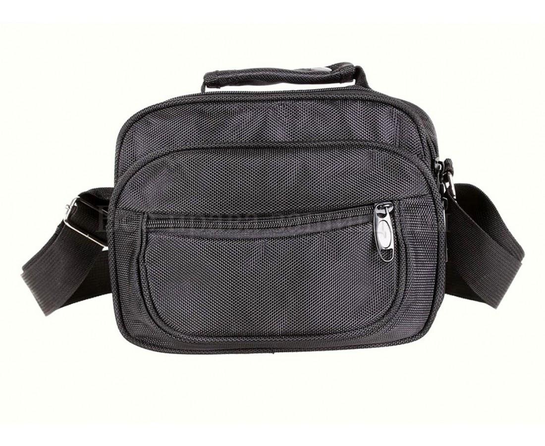 Мужская сумка через плечо ткань черный (Формат: больше А5) NAVI кт2938