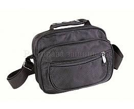 Мужская сумка через плечо ткань черный (Формат: больше А5) NAVI кт2938, фото 2