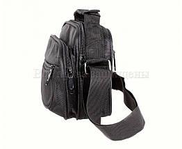 Мужская сумка через плечо ткань черный (Формат: больше А5) NAVI кт2938, фото 3
