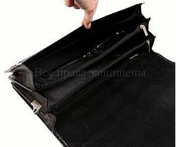 Мужской кожаный портфель черный (Формат: А4 и больше) NAVI кт3458, фото 2