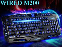 Проводная игровая клавиатура WIRED M-200 с 3-х цветной подсветкой, фото 1