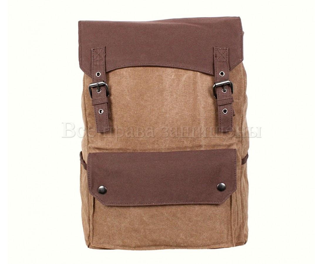 Рюкзак унисекс ткань кофейный (Формат: А4 и больше) NAVI 6075-2-COFFEE