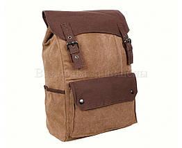 Рюкзак унисекс ткань кофейный (Формат: А4 и больше) NAVI 6075-2-COFFEE, фото 2