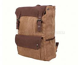 Рюкзак унисекс ткань кофейный (Формат: А4 и больше) NAVI 6075-2-COFFEE, фото 3
