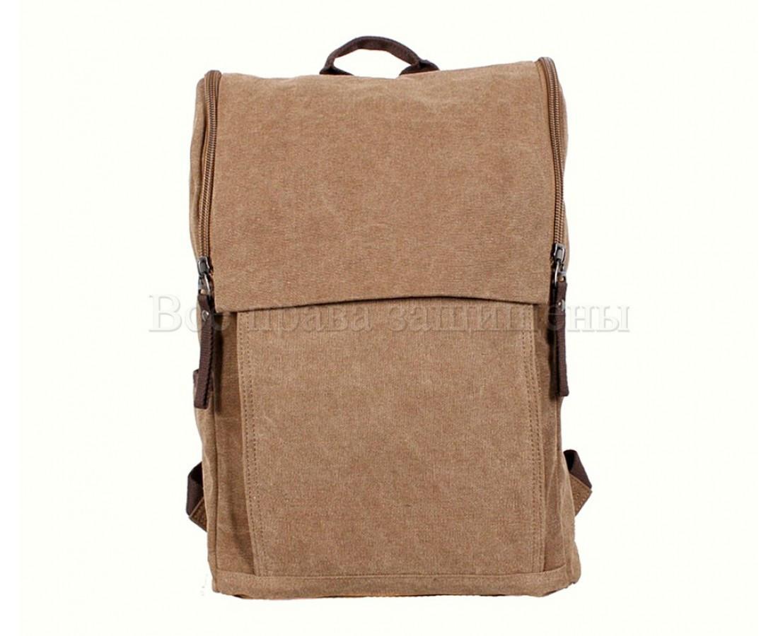 Рюкзак унисекс ткань коричневый (Формат: А4 и больше) NAVI 8154-2-COFFEE
