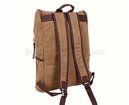 Рюкзак унисекс ткань коричневый (Формат: А4 и больше) NAVI 8154-2-COFFEE, фото 3
