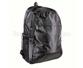 Рюкзак унисекс ткань черный (Формат: А4 и больше) NAVI 931