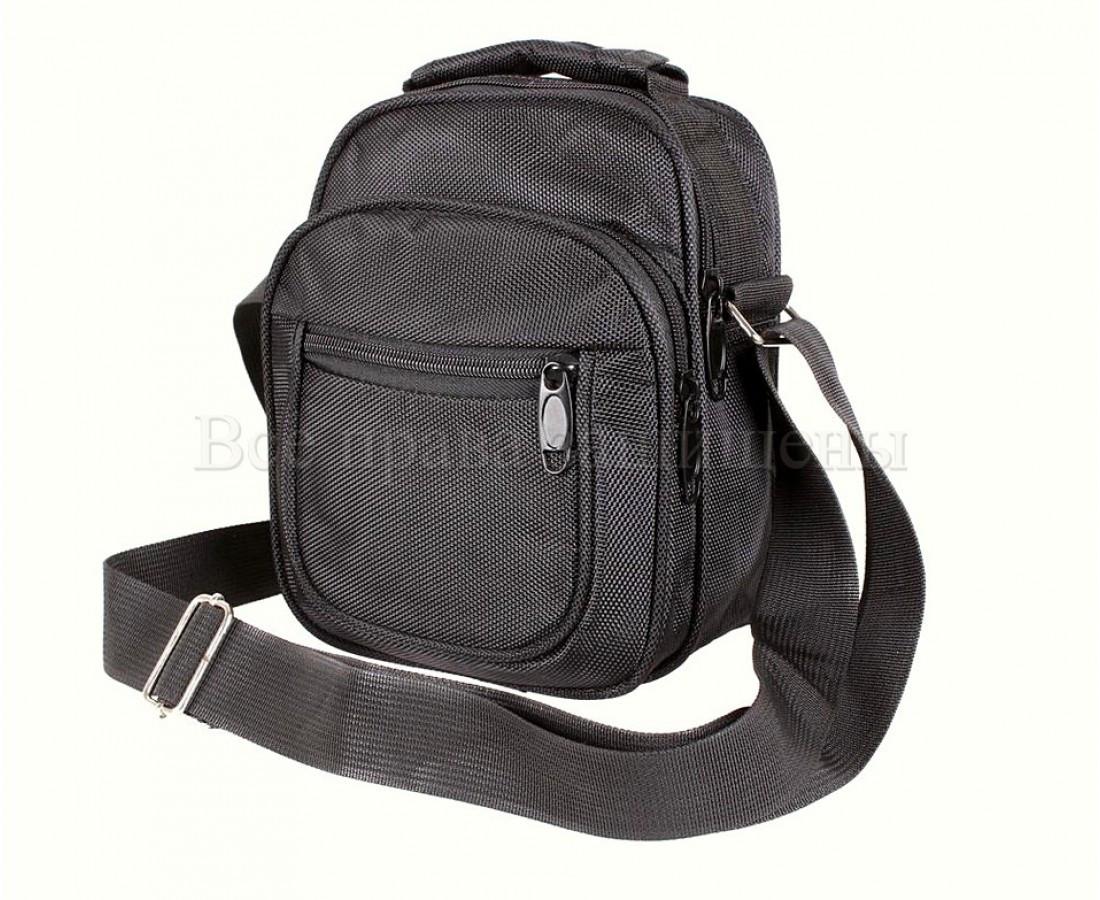 Мужская сумка через плечо ткань черный (Формат: меньше А5) NAVI кт2916
