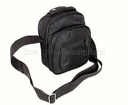 Мужская сумка через плечо ткань черный (Формат: меньше А5) NAVI кт2916, фото 2
