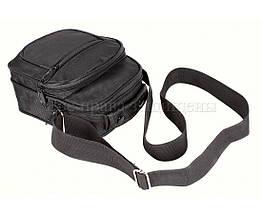 Мужская сумка через плечо ткань черный (Формат: меньше А5) NAVI кт2916, фото 3