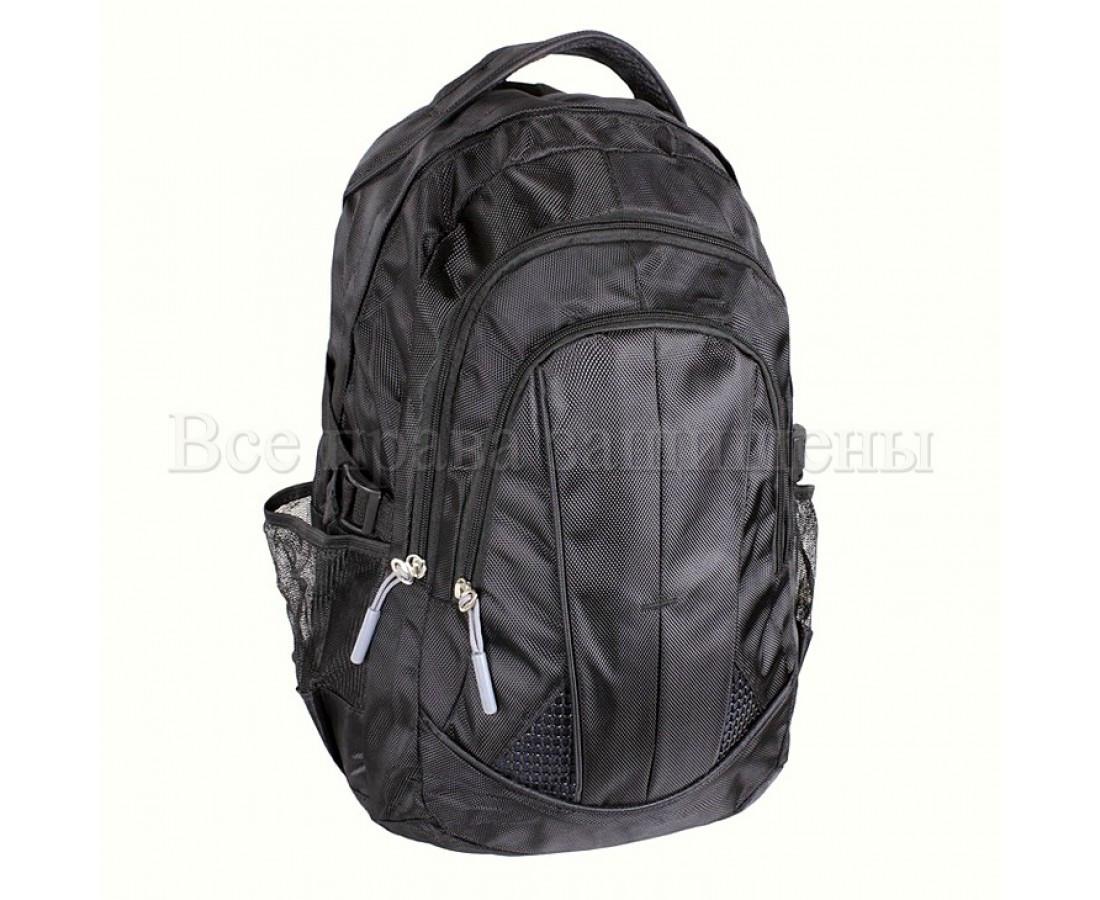 Мужской рюкзак ткань черный (Формат: А4 и больше) NAVI 3837