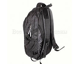 Мужской рюкзак ткань черный (Формат: А4 и больше) NAVI 3837, фото 2
