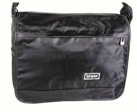 Мужская сумка ткань черный (Формат: А4 и больше) NAVI кт3246, фото 2