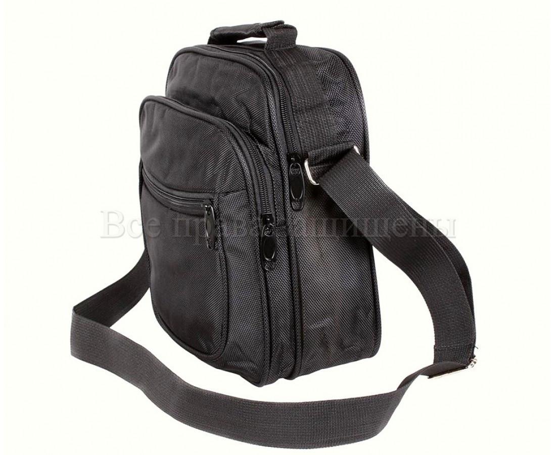 Мужская сумка через плечо ткань черный (Формат: больше А5) NAVI кт2895