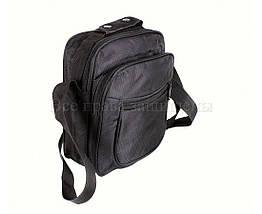 Мужская сумка через плечо ткань черный (Формат: больше А5) NAVI кт2895, фото 2