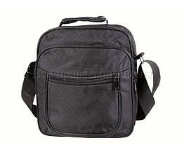 Мужская сумка через плечо ткань черный (Формат: больше А5) NAVI кт2895, фото 3