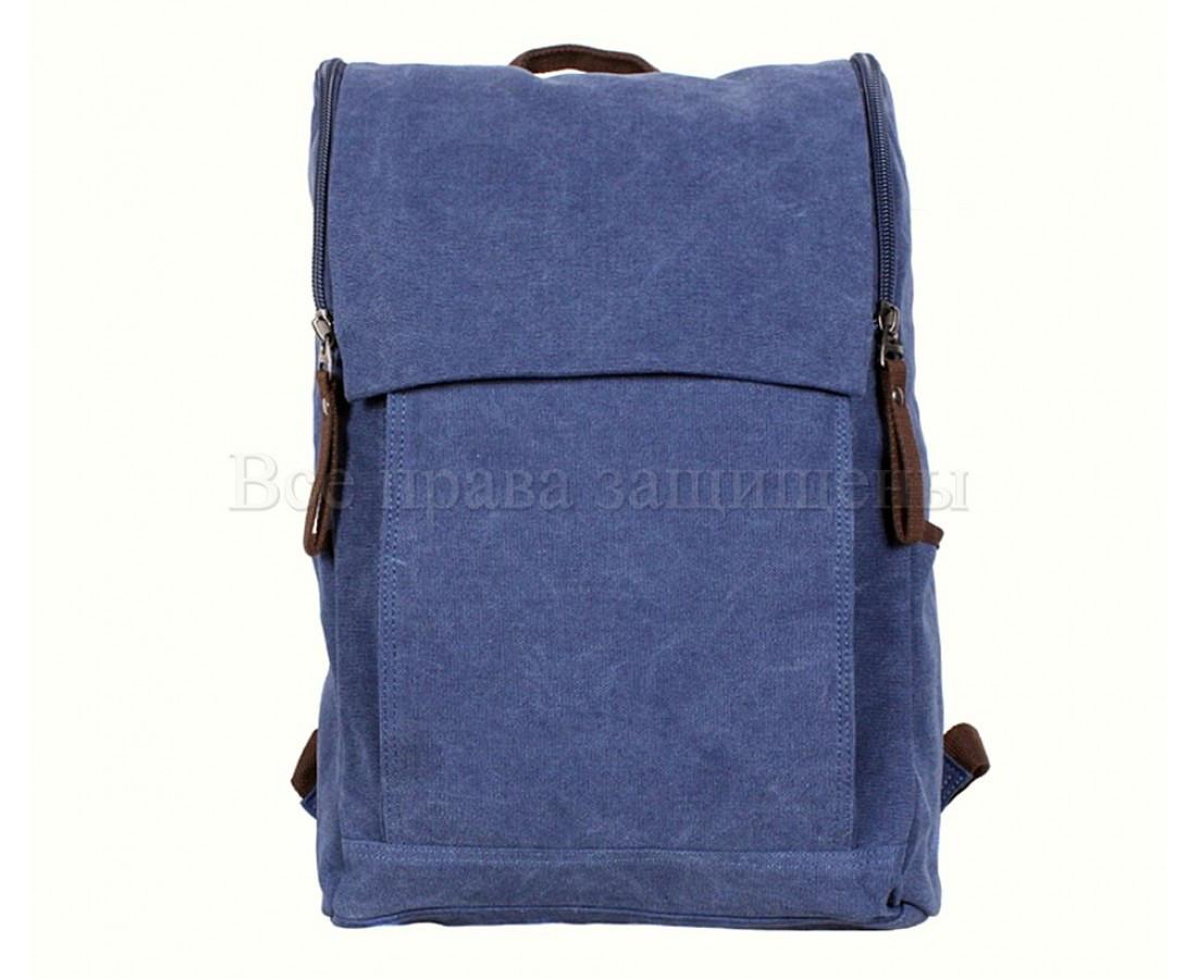 Рюкзак унисекс ткань синий (Формат: А4 и больше) NAVI 8154-3-BLUE