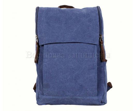 Рюкзак унисекс ткань синий (Формат: А4 и больше) NAVI 8154-3-BLUE, фото 2