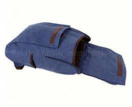 Рюкзак унисекс ткань синий (Формат: А4 и больше) NAVI 8154-3-BLUE, фото 3