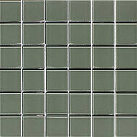 Стеклянная мозаика серая Vivacer PM-02