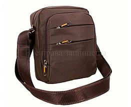 Мужская сумка через плечо ткань кофейный (Формат: больше А5) NAVI 6339-2 coffee, фото 2