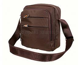 Мужская сумка через плечо ткань кофейный (Формат: больше А5) NAVI 6339-2 coffee, фото 3
