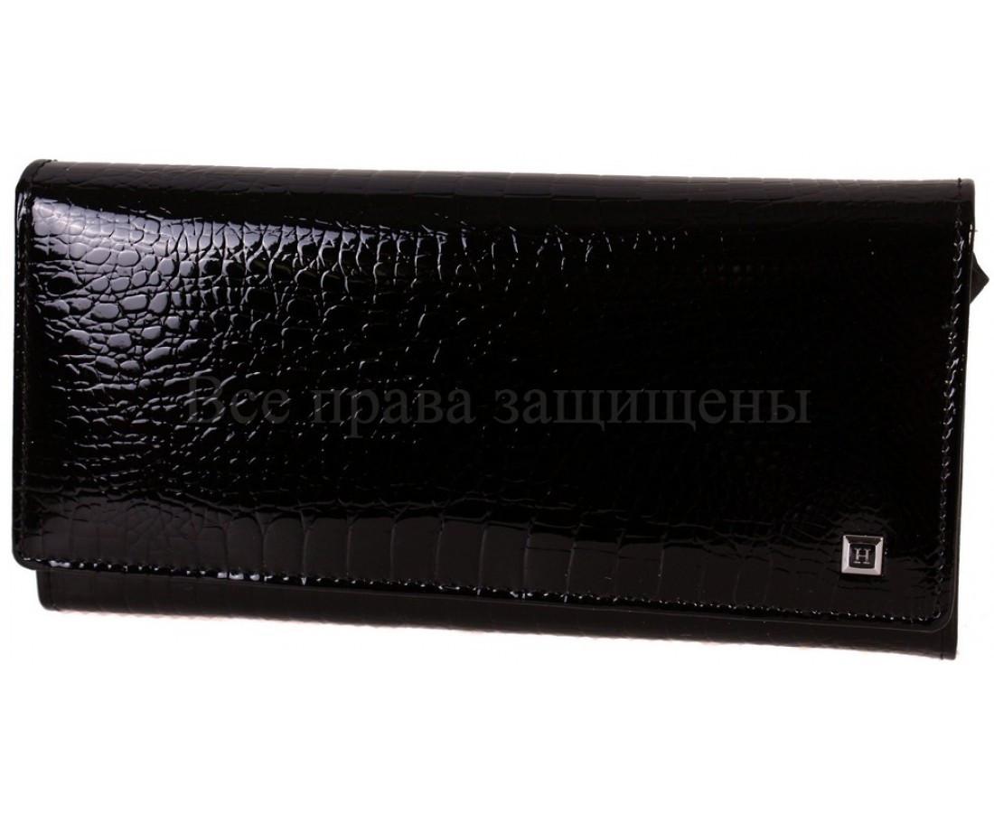 Женский кожаный кошелек черный Horton H-AE150-1A BLACK