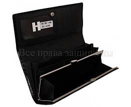 Женский кожаный кошелек черный Horton H-AE150-1A BLACK, фото 2