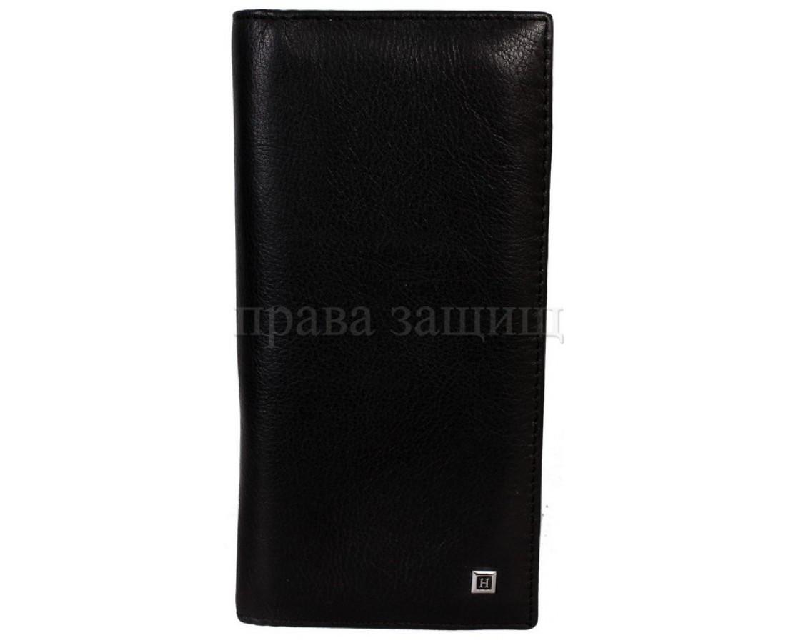 Мужской кожаный кошелек черный Horton H-106
