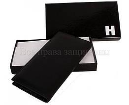 Мужской кожаный кошелек черный Horton H-106, фото 2