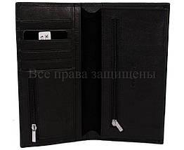 Мужской кожаный кошелек черный Horton H-106, фото 3