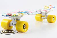 Скейт Пенни Борд Print, Penny Board Original 22 c Рисунком Beautiful Graffiti!