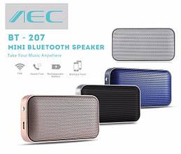 Колонка беспроводная Bluetooth блютуз фирмы AEC металлическая