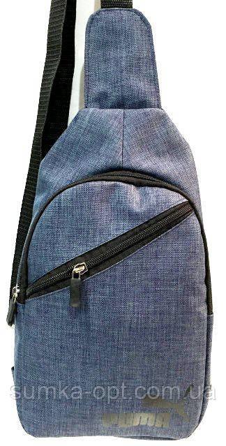 Барсетки на одно плечо джинс Puma Хор качество!(синий)18*31