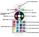 Светодиодная подсветка салона автомобиля с пультом ДУ RGB 36smd 2x5050 T10, фото 5