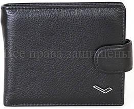 Мужской кожаный кошелек черный WATER LILY WL-0704, фото 3