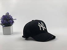 Кепка бейсболка New York Yankees 2018 черная, белый лого, фото 3